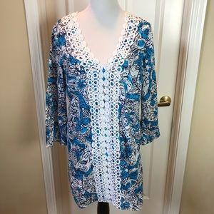 Lilly Pulitzer   Shift Dress, Blue, L